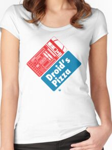 Droid's Pizza Women's Fitted Scoop T-Shirt
