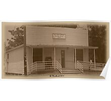 Yesterday And Today - Post Office in McLeod, Texas Poster
