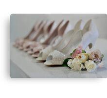 Bridal Shoes Metal Print