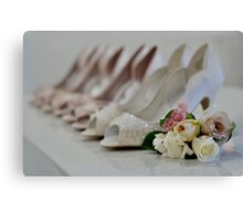 Bridal Shoes Canvas Print