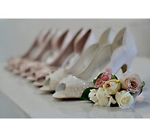 Bridal Shoes Photographic Print