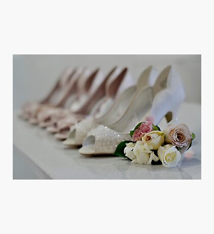 Bridal Shoes Photographic Print