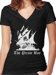 the pirate bay ship Women's Fitted V-Neck T-Shirt