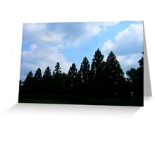 Silhouette Tree Clouds By Jonathan Green Greeting Card