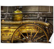 Fireman - Piano Engine - 1855  Poster