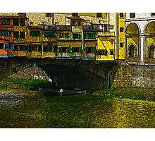 Under the Ponte Vecchio Photographic Print
