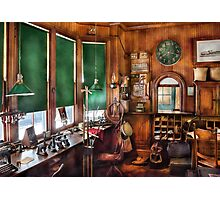 Train - The stationmasters office  Photographic Print