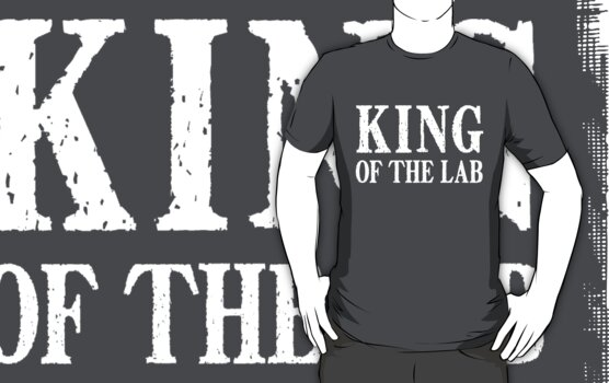 King of the Lab - White Text by LTDesignStudio