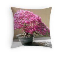Azalea Bonsai Throw Pillow