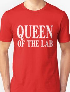 Queen of the Lab - White Text Unisex T-Shirt