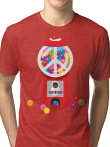 Bubble Gum Machine Peace Sign Tri-blend T-Shirt