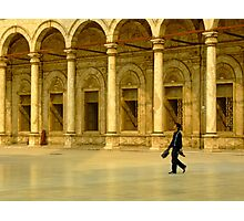 Walking by the arches. Muhammed Ali Pasha Mosque, Egypt Photographic Print