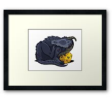 D20 Black Dragon Framed Print