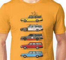 Stack of Volvo 200 Series 245 Wagons Unisex T-Shirt