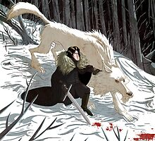 Jon Snow and Ghost #GoT by Douglas Holgate