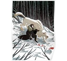 Jon Snow and Ghost #GoT Poster