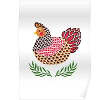 The Brown Hen Poster