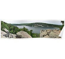 East Bluff Trail of Devils Lake Wisconsin Poster