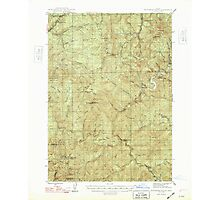 USGS Topo Map Oregon Dutchman Butte 282438 1948 62500 Photographic Print