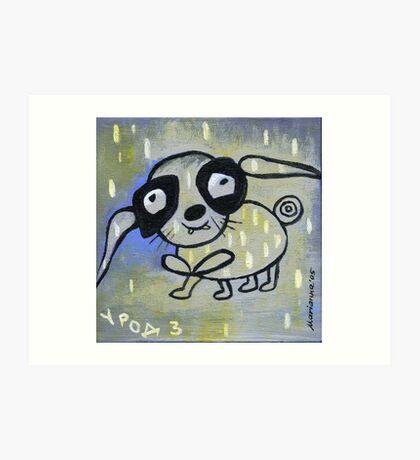ugly bunny Art Print