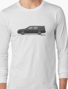 Volvo 850R 855R T5 'Swedish Turbo Wagon' (Black) Long Sleeve T-Shirt