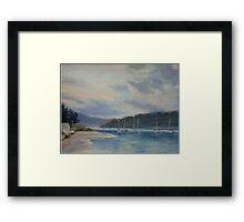 Ettalong - sunrise Framed Print