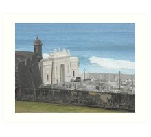 Water Cemetery  Art Print
