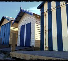 Beach Hut Series - No3 by Tanina Osborne