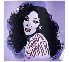 Donna Summer Portrait Sketch Poster