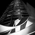 Black & White Melbourne Sculpture and Tower by Jenna Florescu
