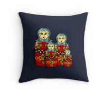 Russian Dolls Throw Pillow