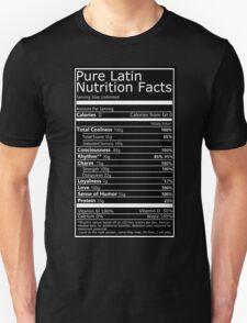 Nutritional Facts! Latin Version 1.0  Unisex T-Shirt