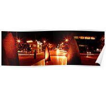 Geelong Sail Sculptures & Night Traffic Poster