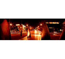 Geelong Sail Sculptures & Night Traffic Photographic Print
