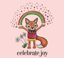 Celebrate Joy: Cute Fox Drawing Watercolor Illustration Kids Clothes