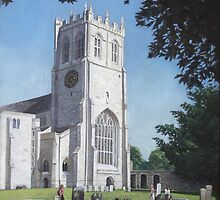 Christchurch priory,Dorset,west view by martyee