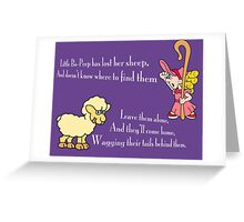 Little Bo-Peep Greeting Card