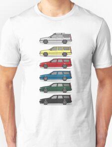 A Stack of Volvo 850 V70 T5 Swedish Turbo Wagons Unisex T-Shirt