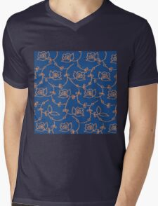 Abstract scroll Mens V-Neck T-Shirt