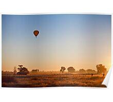 Balloon over Wangaratta farmland Poster