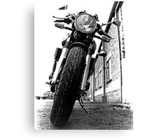 Black and White Motorbike Canvas Print