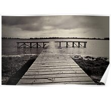 Fishing jetty - Lake Wendouree, Ballarat Poster