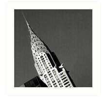 Chrysler Building - black and white Art Print