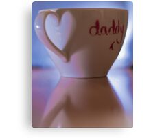 Mug of Love for Daddy  Canvas Print