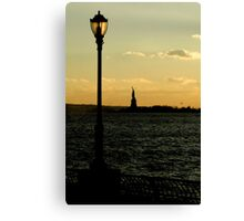 Statue of Liberty - Sunset Canvas Print