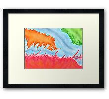 Colorful beautiful shapes for good mood Framed Print