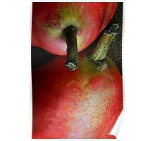 Pair of Pears: Red Poster