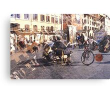 Artists at Piazza Navona (waiting for something to do) Canvas Print