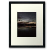 TWILIGHT OVER PIERCE LAKE Framed Print