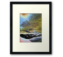 beyond the scarred and barren shores Framed Print